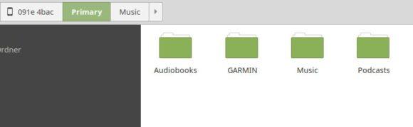 Garmin vívoactive 3 Music erscheint unter Linux als Laufwerk