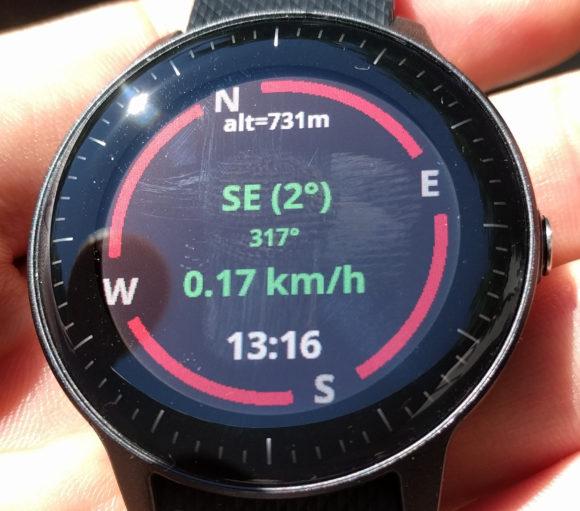 Kompass auf der Smartwatch