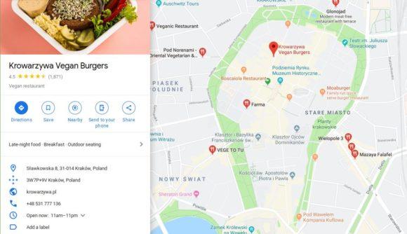 Krowarzywa Vegan Burgers mitten in der Stadt