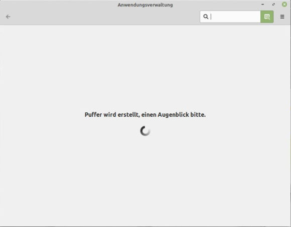 Der Cache der Anwendungsverwaltung wurd gerade erstellt