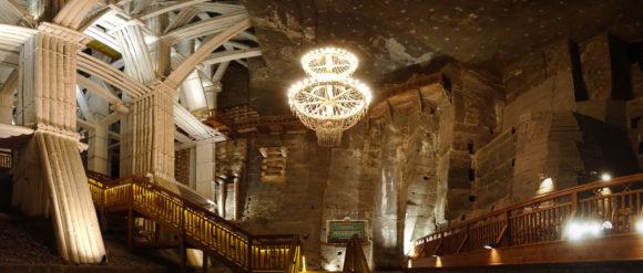 Die zweitgrößte Kammer im Salzbergwerk bei Wieliczka