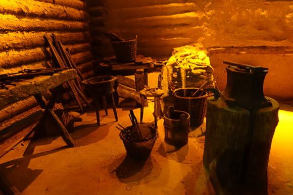 Eine Schmiede im mittelalterlichen Krakau