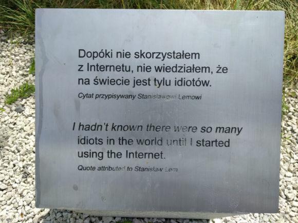 Ein Zitat, das angeblich von Stanisław Lem stammt