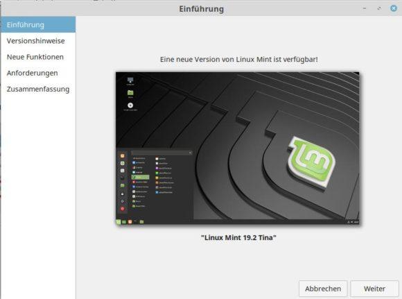 Einführung zum Upgrade auf Linux Mint 19.2