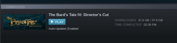 Das RPG installiert sich mit 38 GByte
