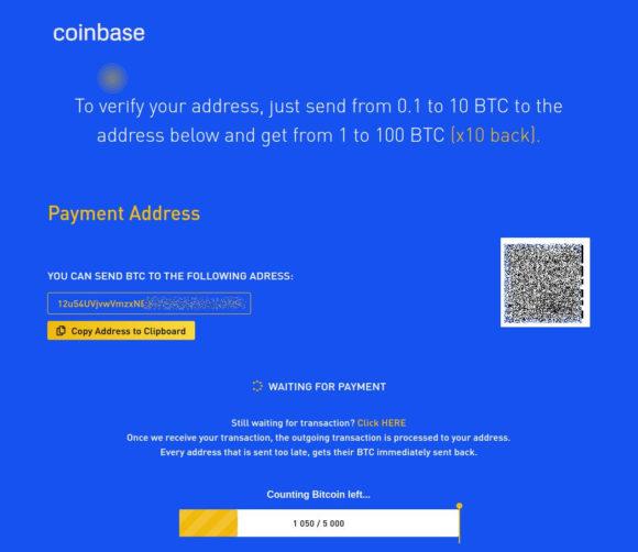 Scam mit Coinbase