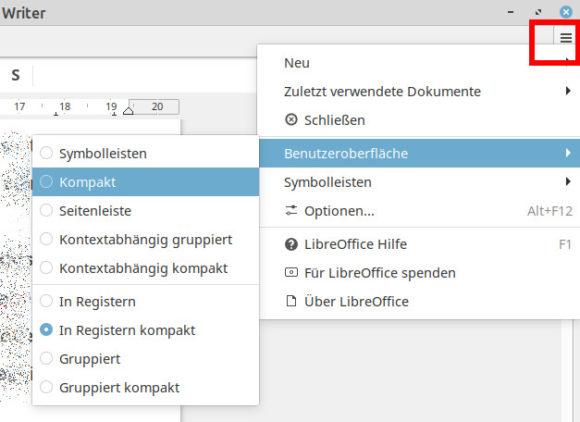 In Registern kompakt – Benutzeroberfläche umstellen