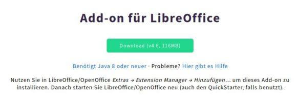 LanguageTool für LibreOffice installieren