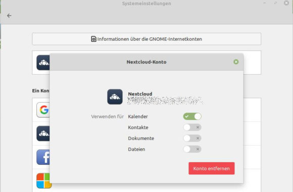 Nextcloud in Linux Mint 19.2 verbinden