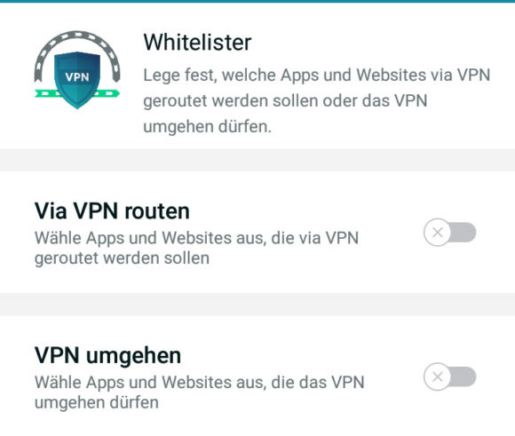 VPN Whitelister - also Split Tunneling