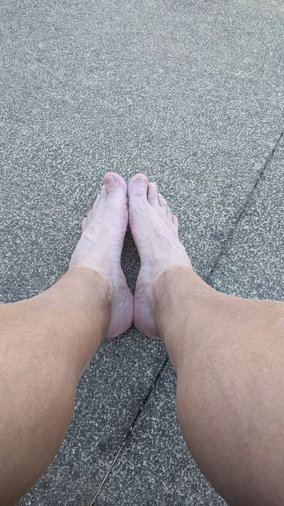 Rota Vicentina hat mit gleich zu Beginn weiße Socken angezogen