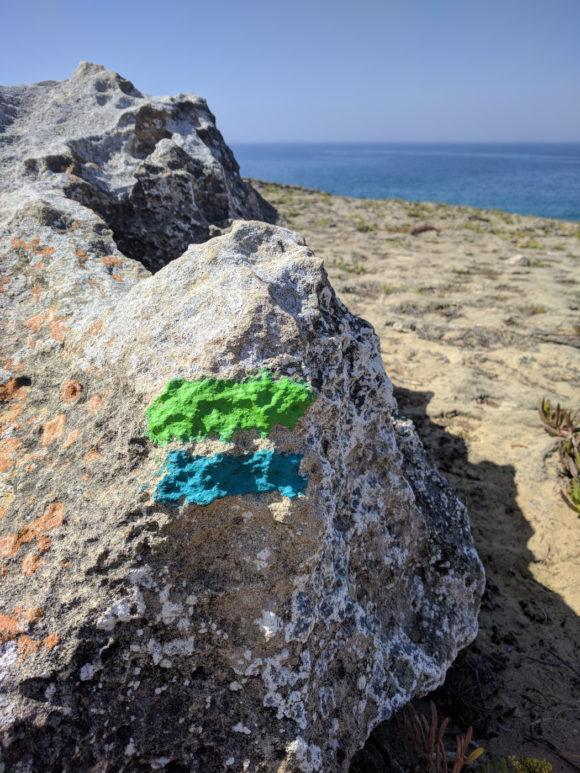 Fisherman's Trail am Stein markiert
