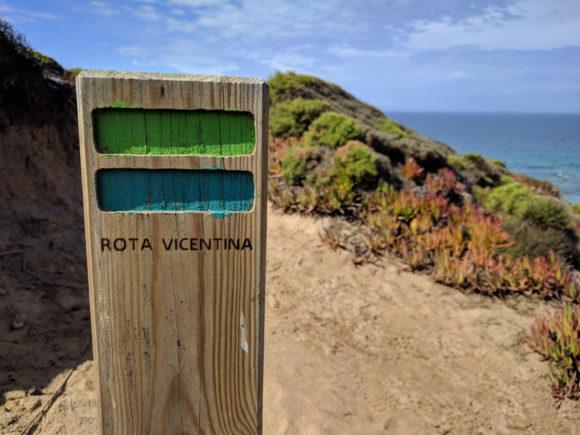 Typische Markierung für den Fisherman's Trail / Rota Vicentina