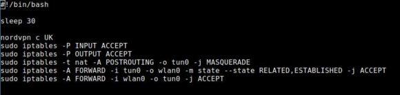 NordVPN auf dem VPN-Router mit Verzögerung starten