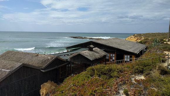 Restaurant am Strand von Villa Nova de Milfontes