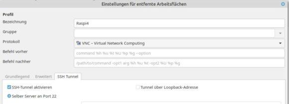 Mit Remmina die VNC-Verbindung via SSH tunneln