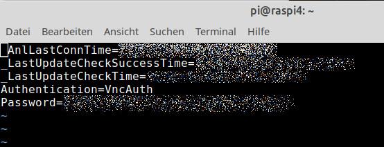 Die Datei /root/.vnc/config.d/vncserver-x11 verändert, dass Du auch andere VNC-Clients nutzen kannst