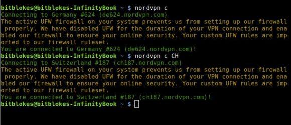 Einfacher Server-Wechsel bei NordVPN für Linux 3.4