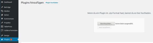 Matomo Plugin für WordPress direkt im Backend hochladen