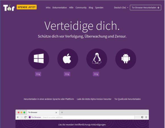 Tor Browser leitet Deinen Traffic durch das Tor-Netzwerk