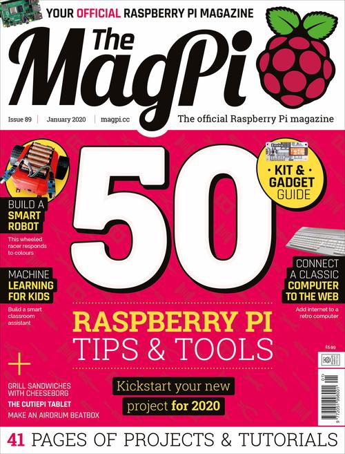 MagPi 89 mit 50 Tipps & Tools für Raspberry Pi (Quelle: magpi.raspberrypi.org)