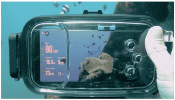 Diveroid verwandelt Dein Smartphone in Tauchcomputer und Unterwasser-Kamera ... wird behauptet