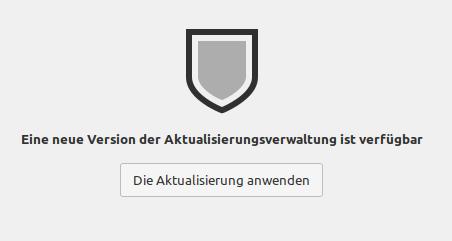 Neue Version der Aktualisierungsverwaltung