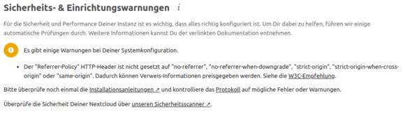 Nextcloud – irgendwas passt mit dem HTTP-Header nicht