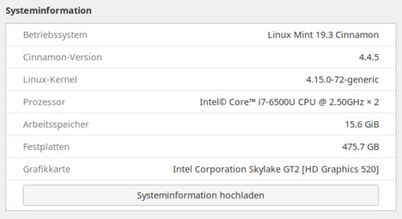 Upgrade auf Linux mint 19.3 Tricia war erfolgreich