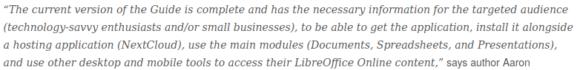 LibreOffice Online Guide behandelt alle Aspekte