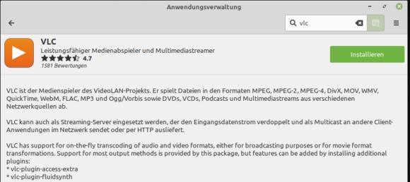 VLC unter Linux Mint 19.3 installieren