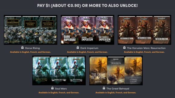 5x E-Book aus dem Warhammer-Universum