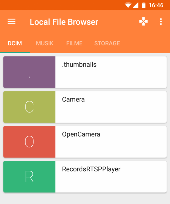 In den lokalen Dateien stöbern