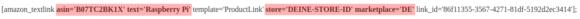 Amazon Associates Link Builder erstellt solche Shortcodes