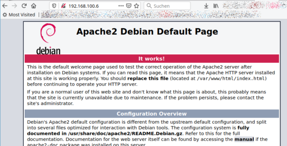 Apache2 funktioniert auf dem Raspberry Pi