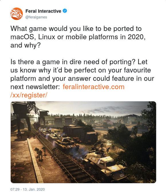 Welches Spiel sollen wir auf Linux, macOS oder Mobile portieren?