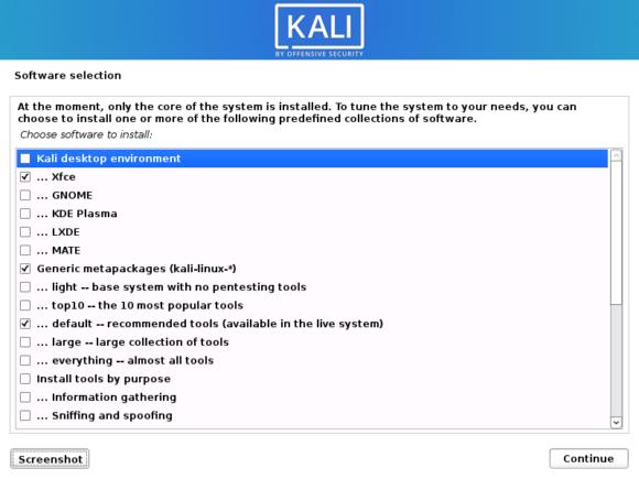 Kali Linux 2020.1 – Standard-Installation (Quelle: kali.org)