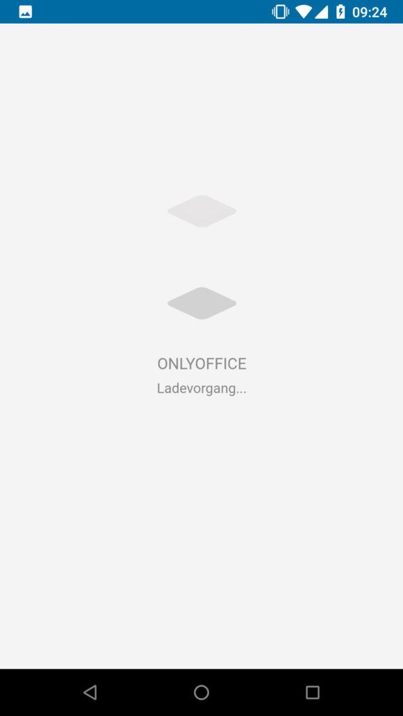 ONLYOFFICE lädt direkt aus der Nextcloud App