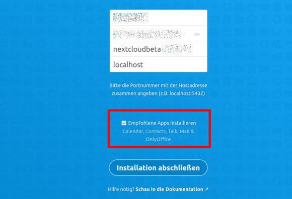 Nextcloud Hub mit zusätzlichen Apps