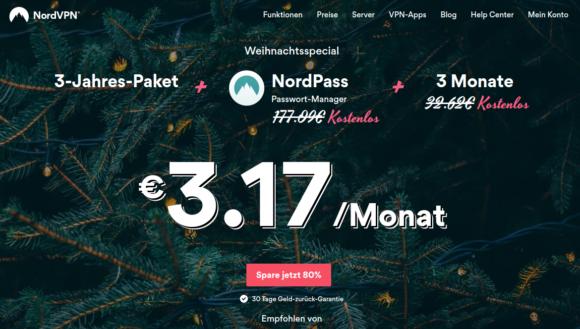39 Monate NordVPN plus NordPass kostenlos!