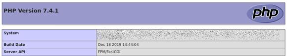 PHP 7.4 FPM/FastCGI läuft