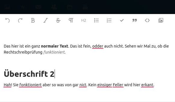 LanguageTool funktioniert im Text-Editor der Nextcloud
