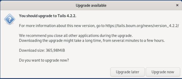 Tails 4.2.2 behebt kritische Sicherheitslücke