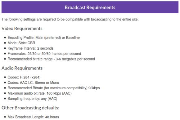 Streaming-Anforderungen zu Twitch – wenn Du selbst senden willst