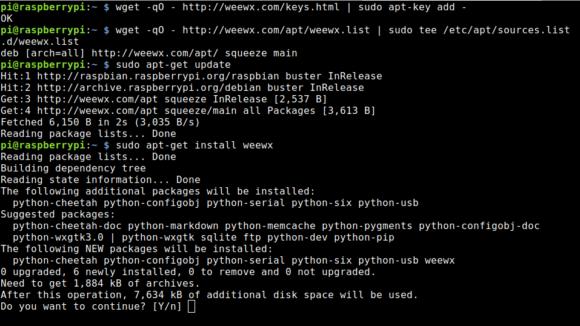 Wetterstation WeeWX unter Raspbian installieren