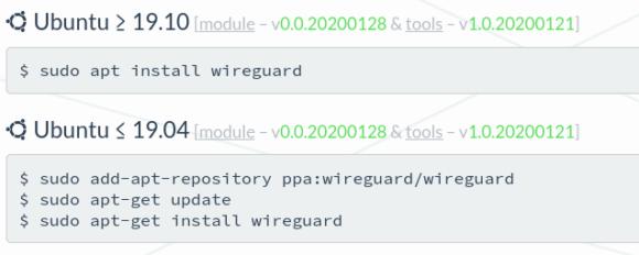 WireGuard wir per Standard in den Kernel von Ubuntu 20.04 aufgenommen, seit 19.10 im Unisverse Repository zu finden