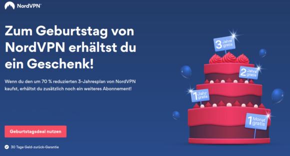 Geburtstags-Angebot: NordVPN bis zu 3 Jahre gratis*