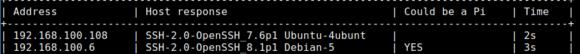 pi-oi hat meinen Raspberry Pi im Netzwerk gefunden