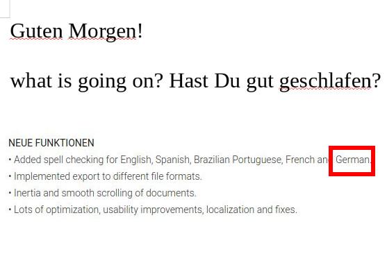 Rechtschreibprüfung nur auf Englisch