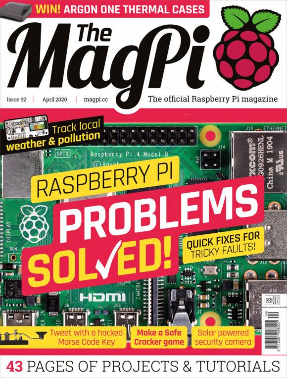 The MagPi 92 kümmert sich um Probleme (Quelle: raspberrypi.org)
